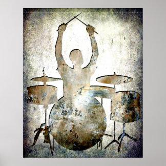 Drummer, Copyright Karen J Williams Poster