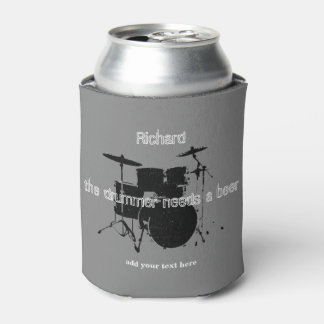 drummer custom can cooler with a drum