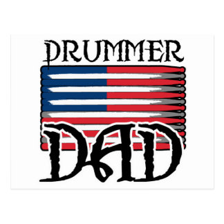 Drummer Dad Replacement Postcard