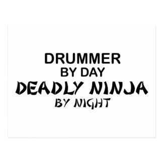 Drummer Deadly Ninja by Night Postcard