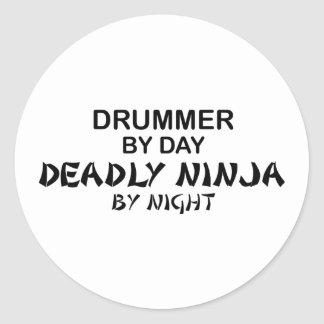 Drummer Deadly Ninja by Night Stickers