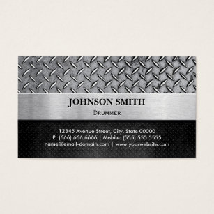 Drummer business cards templates zazzle drummer diamond metal plate business card colourmoves Image collections