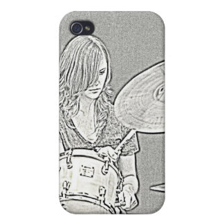 Drummer Drawing iphone Speck Case