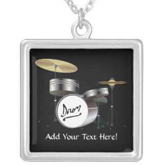 Drummer Drum Kit Personalized Music Necklace