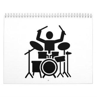 Drummer drum set calendar