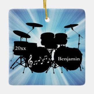 Drummer Drum Set Design Ornament
