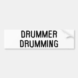Drummer Drumming Car Bumper Sticker