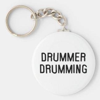 Drummer Drumming Keychain