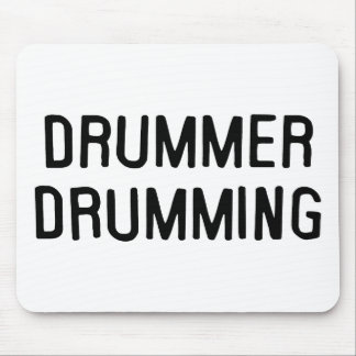 Drummer Drumming Mouse Pad