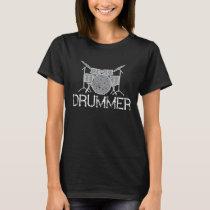 Drummer Drumming Musician Music Band T-Shirt