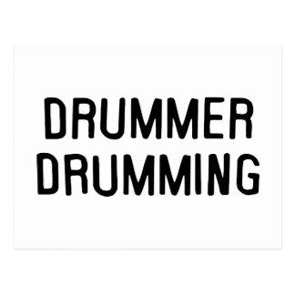 Drummer Drumming Postcard