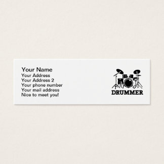Drummer drums mini business card