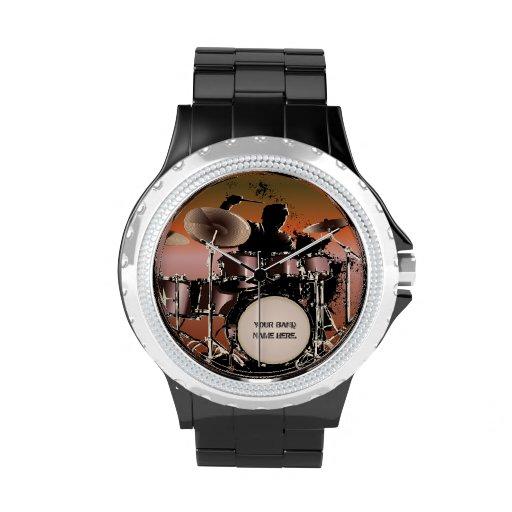 Drummer Drums Set Watch