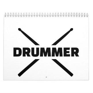 Drummer Drumsticks Calendar