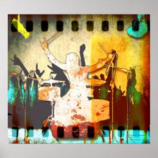 Drummer Dude, Copyright karen J Williams Poster