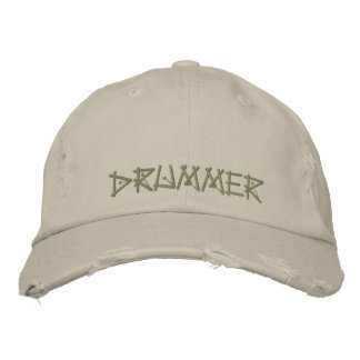 DRUMMER EMBROIDERED BASEBALL HAT