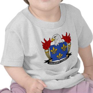Drummer Family Crest Tshirts