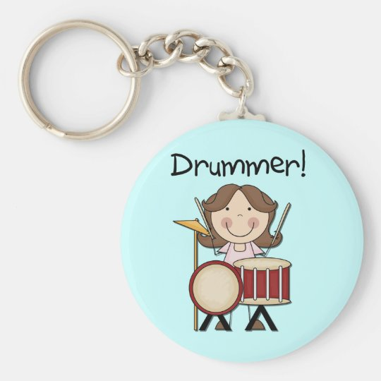 Drummer - Female Tshirts and Gifts Keychain