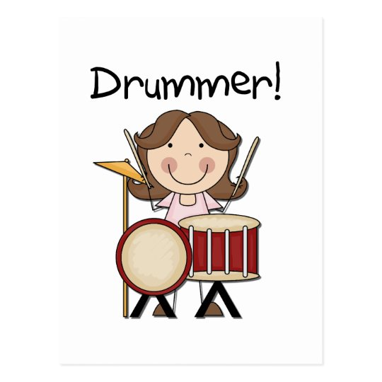 Drummer - Female Tshirts and Gifts Postcard