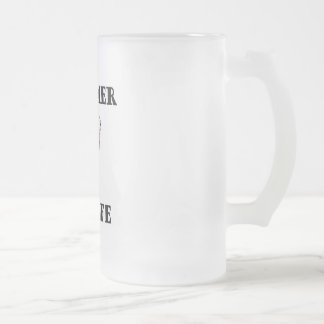 Drummer for Life Frosted Glass Beer Mug