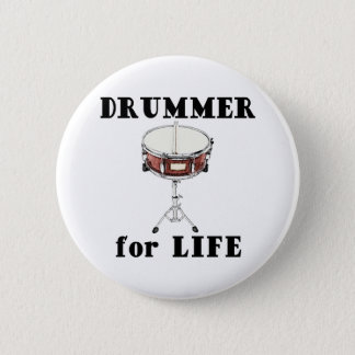 Drummer for Life Pinback Button