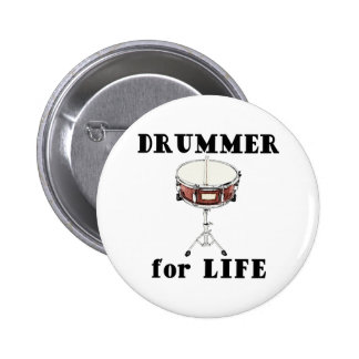 Drummer for Life Pins