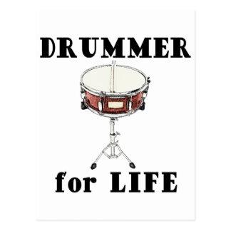 Drummer for Life Postcard