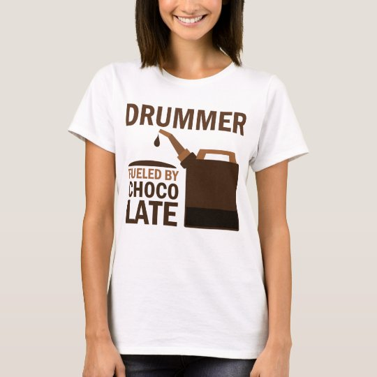 Drummer (Funny) Chocolate T-Shirt