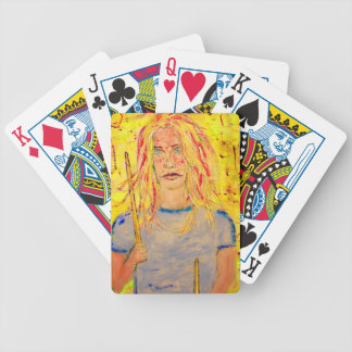 Drummer Girl Bicycle Playing Cards
