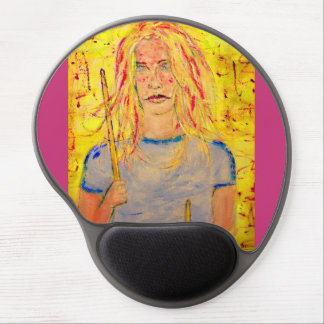Drummer Girl Gel Mouse Pad