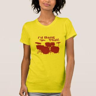 Drummer Girl Humor T-Shirt