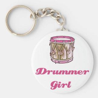 Drummer Girl Keychain