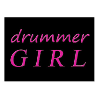 Drummer Girl Large Business Card