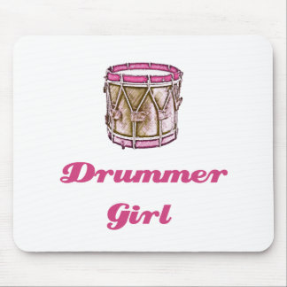 Drummer Girl Mouse Pad