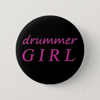 Drummer Girl Pinback Button
