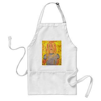 drummer girl rocks adult apron