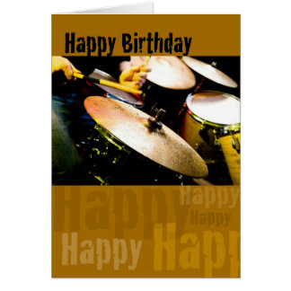 Drummer, Happy Birthday Greeting Card