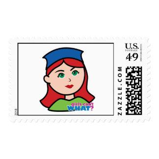 Drummer Head Light/Red Postage Stamp