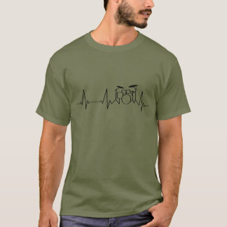 Drummer Heartbeat   Beating Drums   T-Shirt