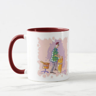 Drummer I right hand coffee mug