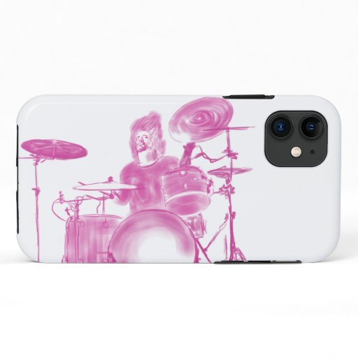 Drummer in Action iPhone 11 Case