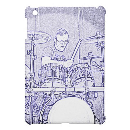 Drummer In Drawing ipad Speck Case iPad Mini Cases