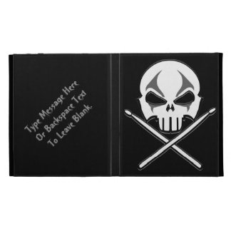Drummer iPad Case Custom Rock & Roll iPad Folio