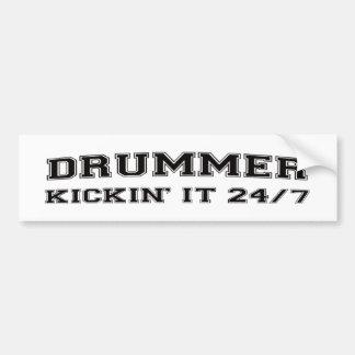 DRUMMER kickin' it 24/7 Bumper Sticker