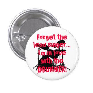 drummer love pinback button