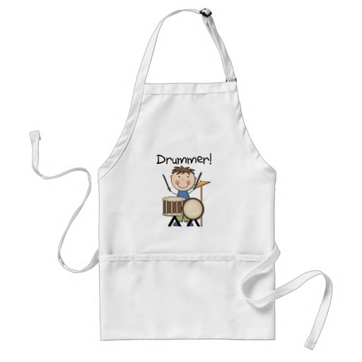 Drummer - Male Tshirts and Gifts Adult Apron