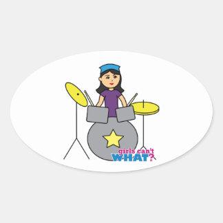 Drummer - Medium Oval Sticker
