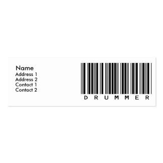 Drummer Mini Business Card