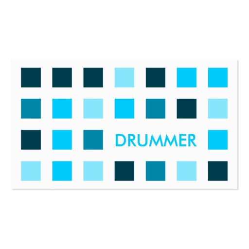 DRUMMER (mod squares) Business Card Template