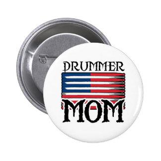 Drummer Mom Pinback Button